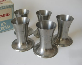 Set of Five Soda Fountain Lily Cup Holders