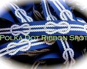 Nautical Knots Ribbon 5 yards- 7/8 or 1.5 inch Navy printed grosgrain Nautical theme hair bow ribbon