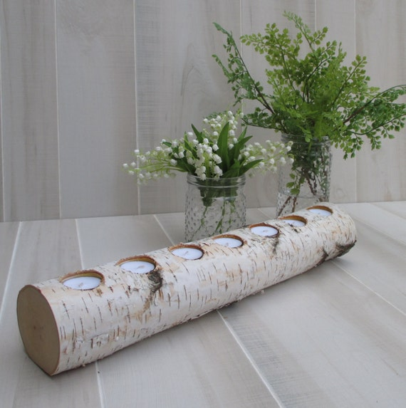 birch log tea light candle holder 22 long by birchhousemarket wood fireplace mantels to buy wood fireplace mantels to buy