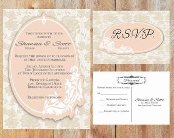 Wedding Invitation -- Shawna  Wedding Invitation --Budget Friendly Wedding Invitation