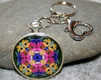 Daisy Purse Charm Bag Charm Keychain Boho Chic Mandala New Age Sacred Geometry Hippie Kaleidoscope Gypsy Unique Gift For Her Daisy Delight