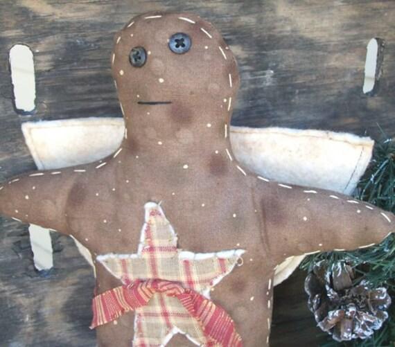Primitive Christmas Ginger Angel