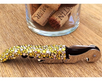 "Swarovski Crystal Encrusted Wine-""Oh!"" Wine Opener, Little Miss Sunshine"