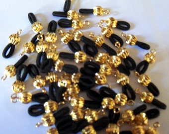 Eye Glass Holder Ends Connectors w Gold Ball Elastic Fashion Finding (22)