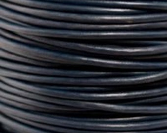 3mm Leather Cord  Pacific Blue 1 Meter Premium Quality Round Cording