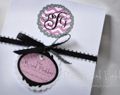 Monogram Notepads - Four Custom Made - Fourth of a Sheet Size