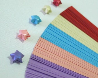 Pure Shimmer - Colors of Romance  -  Origami Lucky Star Paper Strips - pack of 70 strips