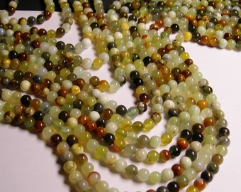 Jade 6 mm round - A quality - 63 beads per strand -  1 full strand
