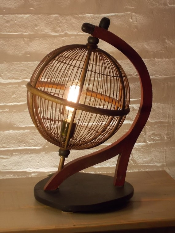 One Of A Kind Upcycled Antique Globe Bird Cage By Glassredux