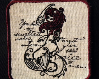Little Mermaid Iron on Patch- small