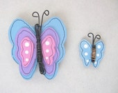 Colorful Butterfly Magnets, Tole Painted Butterflies, Summer Time Butterflies, Hand Painted Magnets, Blue, Pink, Purple Butterflies