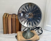 Vintage Handyhot Space Heater in Aqua - electric heater with reflector disc and ceramic coil