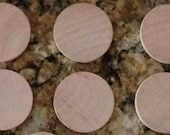 10 UNPAINTED Wood Circles for Birthday Chart