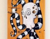 "Skateboard Art ""Video Game"" Original Surreal Painting on Skateboard Deck"