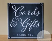 Cards And Gifts Sign, Wedding Sign, Handcrafted Sign, Card Table Sign, Vintage Wedding Themed Sign