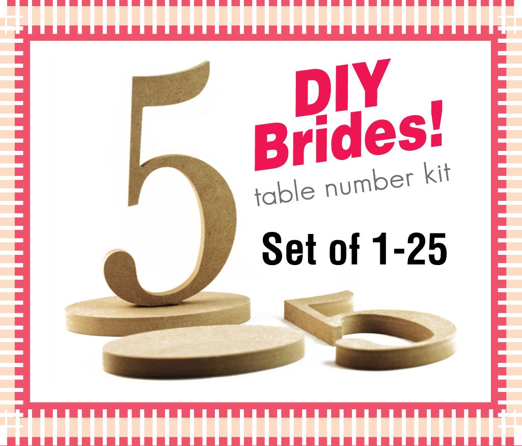 Wooden table numbers diy do it yourself wedding table number for Table numbers