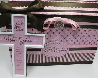 GIFT SET  Birthday Princess Time Capsule Storage Chest and Cross