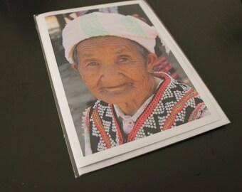 """Blank Greeting Card, 5"""" x 7"""", 'Grandma Lahu'"""