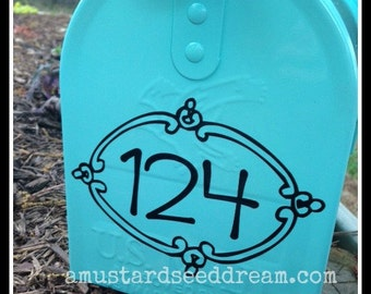 Mailbox Numbers- Vinyl Wall Art, Graphics, Lettering, Decals, Stickers