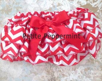Baby Bloomer, Baby Diaper Cover,Chevron bloomer,Red baby bloomer,Red baby diaper cover.baby ruffle bloomer,chevron diaper cover