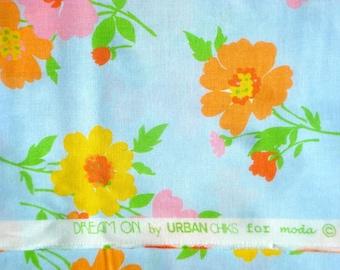 SALE : Urban Chiks Dream On funkadelic blue moda fabric FQ or more