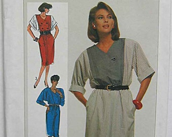 Easy Misses' Dress Simplicity 7274 Sewing Pattern UNCUT Available in Size 10 OR Size 14
