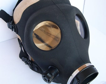 Basic Black STEAMPUNK Full Face Gas Mask-A BURNING MAN Must Have