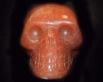 Carved Jasper Skull