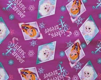 Frozen Disney Characters Anna 100% Cotton Elsa Fabric 1 half 1/2 yard READY 2 SHIP sold out