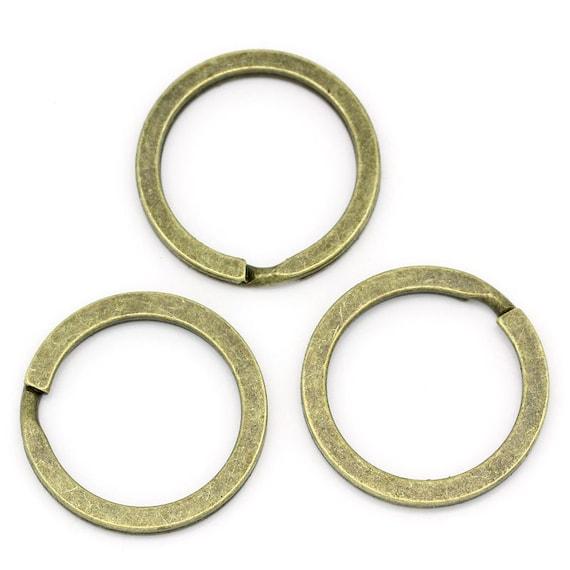 20pcs wholesale key ring keychain bronze split key ring