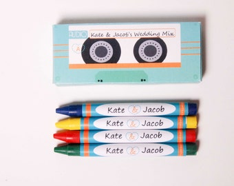 Love of Music Wedding Crayons (Great Favors to keep all the littles busy)