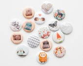 Pin Back Buttons - Kate's Pick  (Set of 16)