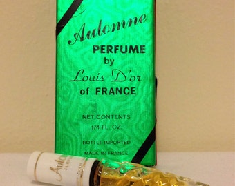 Vintage French Perfume Louis D'or Automne Mini Bottle Swirled Glass Imported