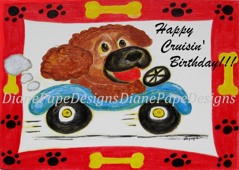 Happy Cruisin Birthday Blank Birthday Card Hot Rod – Nascar Birthday Cards