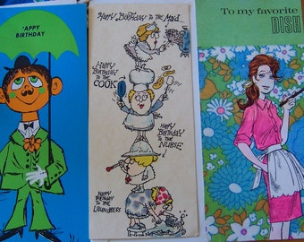 charming fun cards from the 60's