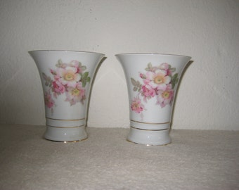 Vintage vases set of 2 (two) porcelain German made