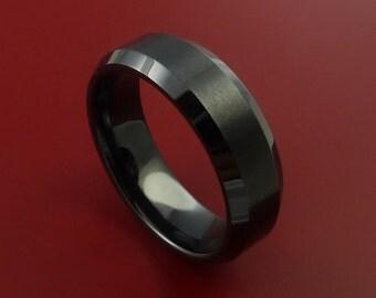 Black Ceramic Ring Durable Custom Made Ring