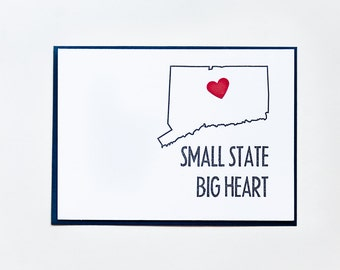 Small State Big Heart™ | Connecticut Letterpress Card