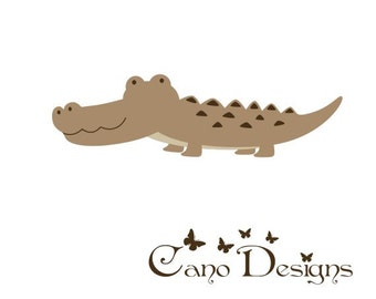 Crocodile  vinyl decal,  Vinyl wall decals stickers, nursery, kids & teens room, removable decals stickers