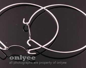 2pcs-1.7mmX70mm,Tray13mmX18mmSilver plated Brass Bracelet,Blank Tray Bracelet (E330S)