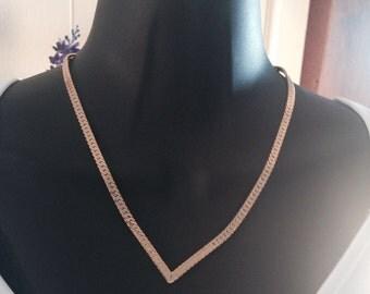 """Vintage """"V"""" Necklace 1980"""
