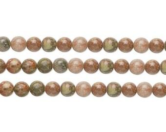 Round Autumn Jasper Beads 6mm 16 Inch Strand