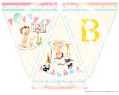 Digital PRINTABLE Vintage Its a Girl Stork Baby Shower Nursery Celebrate Tea Party Handmade Banner Flag Burlap Digital Sheet Images Sh270