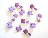 Purple Baby Buttons 12 pc