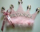Princess Crown Personalized Name Plaque, Girls Princess Room Decor, Girls Nursery Wall Decor, Princess Crown Wall Art,  Personalized Gift