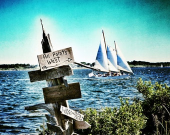 All Points West - 8x10 Metallic Photographic Print , Rose Island Newport RI