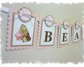Beatrix Potter Child Name Banner - Miss Mopsy collection - Peter Rabbit Nursery and Event Decoration