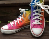 Rainbow Converse Tie Dye Converse HIGH TOP Custom Ombre Hi Top Converse Shoes