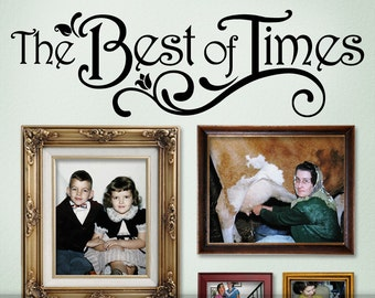 The Best of Times Photo Gallery Topper Vinyl Wall Decal (msv)