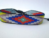 Huichol Native American Inspired Multi-Colored, Beaded Friendship Bracelet 102